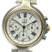 Dunhill Millennium Chronograph Manual Winding Stainless Gp Menand039s Watch [b0603]