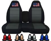 Front Set Car Seat Covers Fits Chevy S10 Trucks 94-04 60/40 With Console Usa