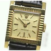 Rolex Precision Cal.1401 Antique Manual K18yg Ladies Watch From Japan [b0603]