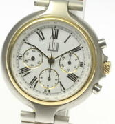Dunhill Millennium Chronograph Manual Winding Back Scale Menand039s Watch [u0603]