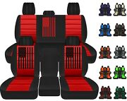 Front And Rear Car Seat Covers Fits Dodge Ram Trucks 2011-2018 American Flag