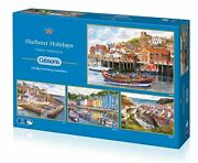 Gibsons Harbour Holidays Jigsaw Puzzles 4 X 500 Pieces