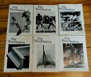 6 X Fine Wood Working Magazines 1982 Complete Year Woodworking Carving