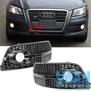 1 Pair Sq5 Style Bumper Lower Grille Fog Light Cover For Audi Q5 8r 2009-12