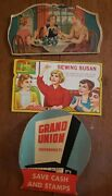 Vintage Advertising Sewing Needle Kits Lot Of 3