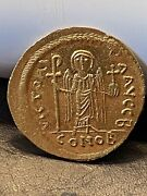 Byzantine Maurice Tiberius Av Solidus Gold Coin 582-602 Ad - Ms Unc 90 Gold