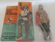 Vintage 70's Gabriel/marx Lone Ranger Red Sleeves Action Figure Boxed And Complete