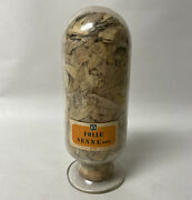 Vtg Or Antique Inverted Glass Apothecary Jar Bottle Display Orig. Rexall Labels