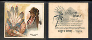 1888 N36 Allen And Ginter American Indian Chiefs And039and039 Bull Head  And039and039 3297