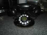 Vintage Black Western Electric Bell Systems F1 Hand Set Rotary Dial Telephone