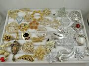 38 Piece Signed Signed Sarah Coventry Vintage Brooch Pin Lot