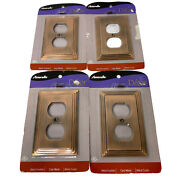 Amerelle Cast Metal Bronze Copper Electrical Outlet Covers Wall Plates 4pc