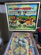 Bally Bow And Arrow 1975 Pinball Machine 4 Player. Needs Work But Working