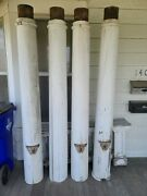 4 Vintage/antique 83 Round Wood Load Bearing Structural Porch Columns From 1912
