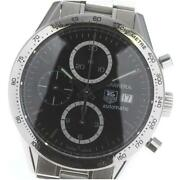Tag Heuer Carrera Chronograph Calibre 16 Cv2016-2 Stainless Menand039s Watch [b0604]