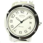 Hermes Clipper Classic Cp2.810 Automatic Stainless Steel Menand039s Watch [b0604]