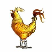 Whiskey Decanter Chicken Shape Transparent Lead Free Glass Leakproof For Gift