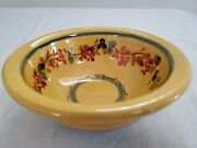 Terre E Provence Handcrafted French Pottery Bowl Glazed Terra Cotta 6.5