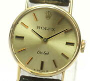 Rolex Orchid Cal.1400 2671 Manual Winding Silver Dial Ladies Watch [u0604]