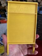 Vintage Dolls Wash Board By Marx Yellow Plastic And Mangle Spare Head Part Rare