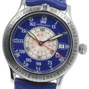 Longines Lindbergh L2.617.4 Automatic Ss Leather Blue Dial Menand039s Watch [u0604]