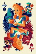 Alice In Wonderland By Tom Whalen - Regular - Very Rare Sold Out Mondo Print