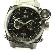 Oris Bc4 Flight Timer 7615 Automatic Stainless Black Dial Menand039s Watch [u0604]