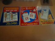 Vintage Chesterfield And Landm Cigarette Embossed Metal Tin Signs - 29and039and039 By 23and039and039