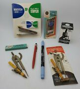 Lot Of 8 Vintage Office/desk Supplies Old Stock Items