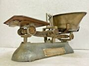 Old Vintage Rare Indian Brass And Iron Balance Weight Measurement Scale