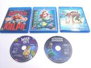 Disney Blu-ray And Dvd 5 Movie Lot Wreck It Ralph Little Mermaid Inside Out Moana