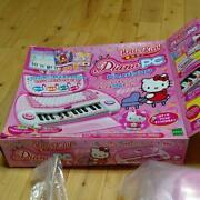 Sanrio Hello Kitty Piano Pc Kids Toy / Karaoke/ Learning Box Excellent Japan