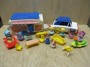 Lot Of Weebles Wobble Figures, Vintage Rv Playset, And More 1972 To Current Ar