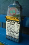 Vintage Fare Box Nyc Bus Coin Collect - Nyc Transportation