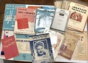 Vintage Large Lot Of Piano Sheet Music Course Lesson Books.1899 To 1970s