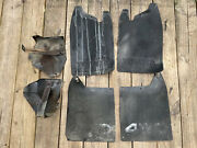84-88 Toyota Pickup Truck 4wd 4x4 Front Mud Flaps Splash Guards Oem Set And Mounts