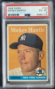 1958 Topps Mickey Mantle 150 Psa 6 Ex-mt New Psa Label Centered