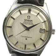 Omega Constellation 12-sided Chronometer Self-winding Ss Menand039s Watch [u0605]