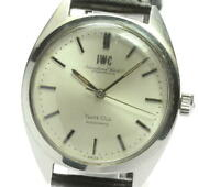 Yacht Club Antique Automatic Ss Leather Silver Dial Menand039s Watch [u0605]