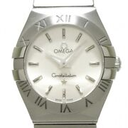Wrist Watch Omega Constellation 123.10.24.60.02.001 Womenand039s Analog Silver Used
