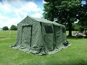 Military Surplus Base X Tent 203+stakes Green 14x15 Ft 210 Sq Ft-stove Jack Army