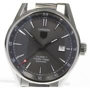 Tag Heuer Carrera Calibre 7 Twin Time War2012 Automatic Ss Menand039s Watch [b0605]