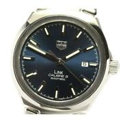Tag Heuer Link Date Wbc2112 Calibre 5 Self-winding Stainless Menand039s Watch [b0605]