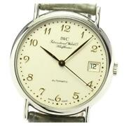 Portofino Iw3513 Date Automatic Beige Dial Stainless Menand039s Watch [b0605]