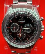 Omega Speedmaster Broad Arrow 1957 Black Mint Condition Chronograph Co-axial.