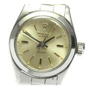 Rolex Oyster Precision 6410 Manual Winding Stainless Steel Ladies Watch [b0605]