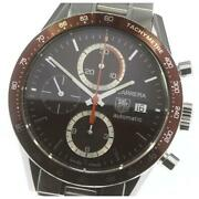 Tag Heuer Carrera Chronograph Cv2013 Automatic Stainless Menand039s Watch [b0605]