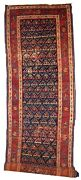 Handmade Antique Oriental Runner 3.4and039 X 12.3and039 103cm X 375cm 1900s - 1b442