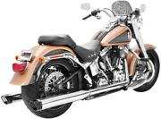 Freedom Racing Dual Exhaust System Chrome Body With Black Tip Hd00204
