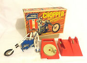 Evel Knievel Chopper + Action Figure And Energizer 1975 Ideal Boxed Vintage Rare